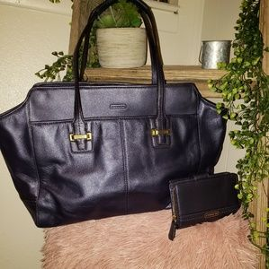 Midnight Blue Coach Tote & Wallet🌜